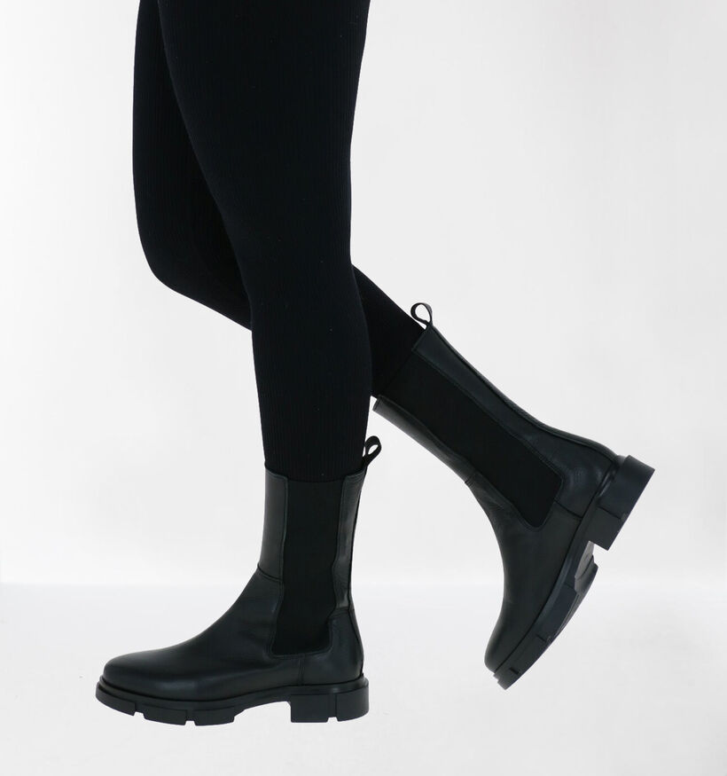 Via Limone by Torfs Zwarte Boots in leer (288544)