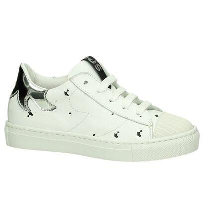 Witte Lage Sneakers Rondinella in leer (194079)