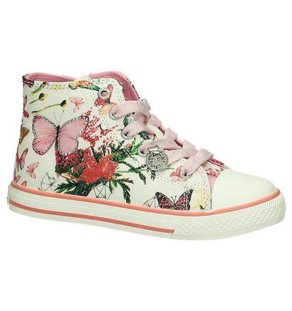 Kipling Butterfly Roze Sneakers Rits/Veter in stof (195825)