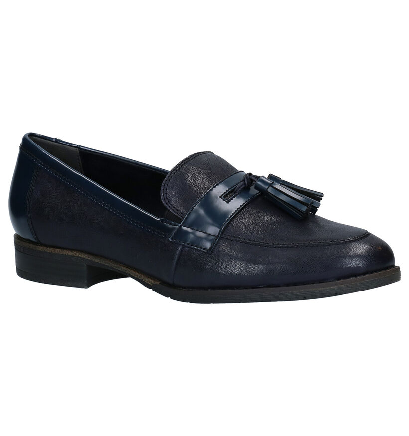Tamaris TOUCH it Blauwe Loafers in leer (280775)