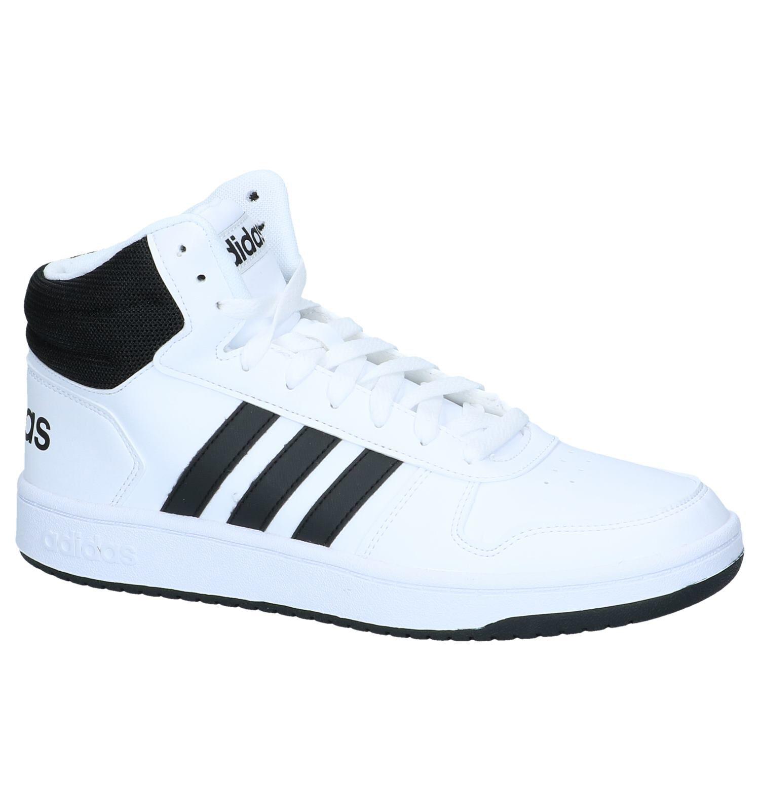 adidas Hoops 2.0 Witte Hoge Sneakers | SCHOENENTORFS.NL