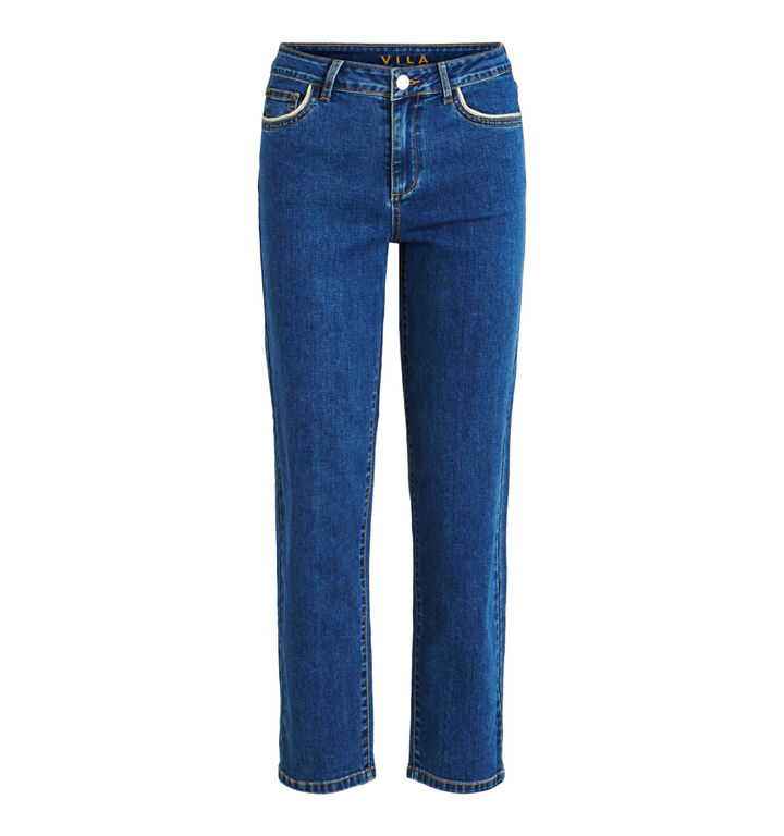 Vila Blauwe Jeans Straight Leg