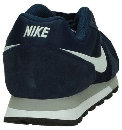 Nike Md Runner Blauwe Sneaker in daim (178308)