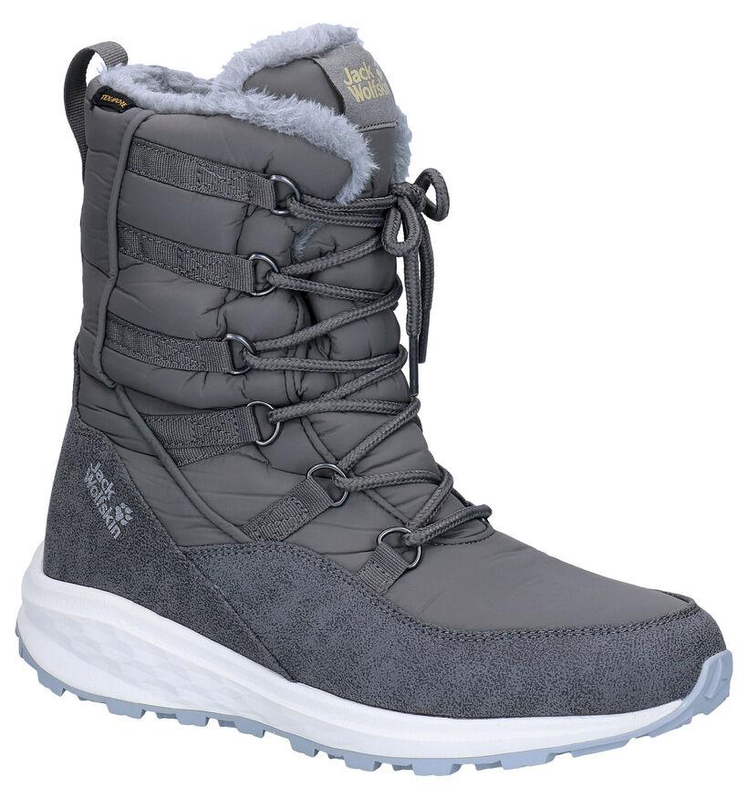 Jack Wolfskin Nevada Texapore Grijze Snowboots in kunstleer (282909)