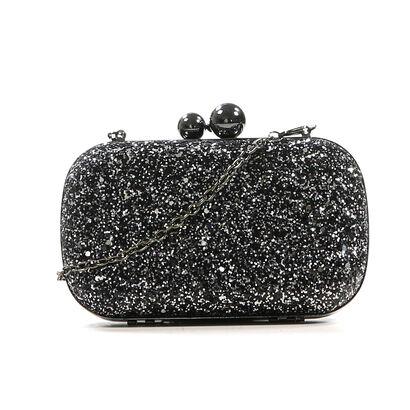 Zwarte Clutch met Glitter Bulaggi, Zwart, pdp