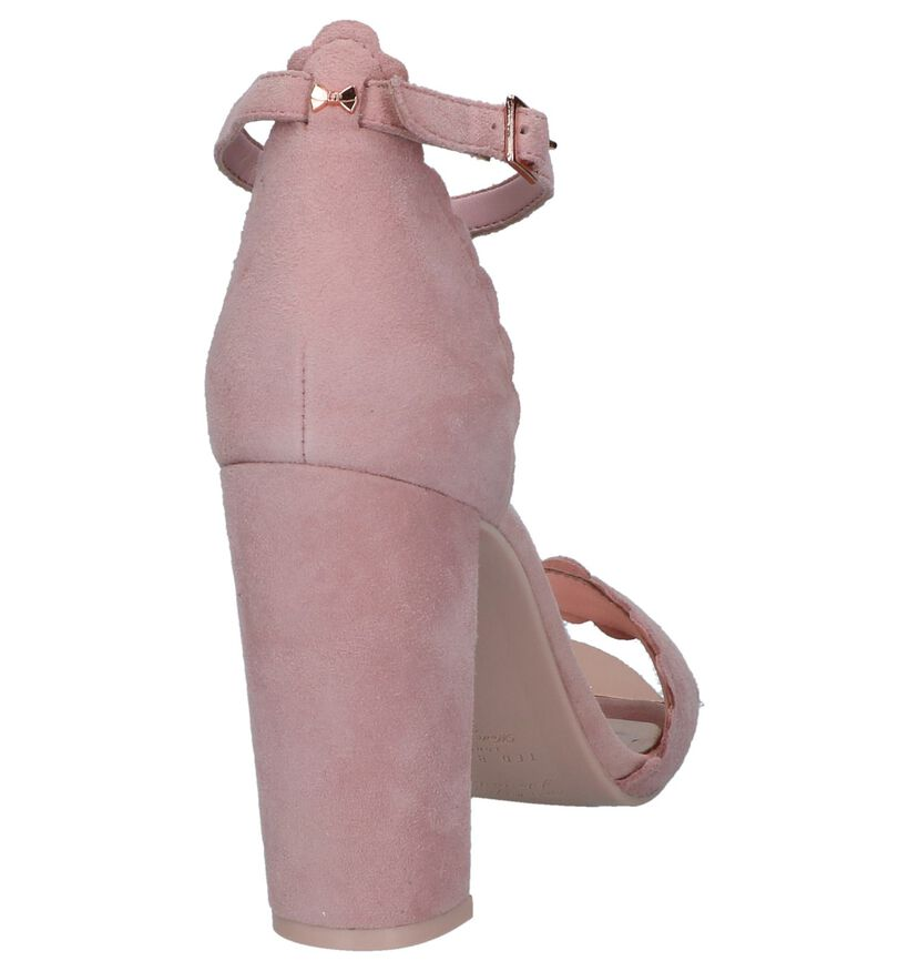 Roze High Heel Sandalen Ted Baker Raidha in daim (237681)