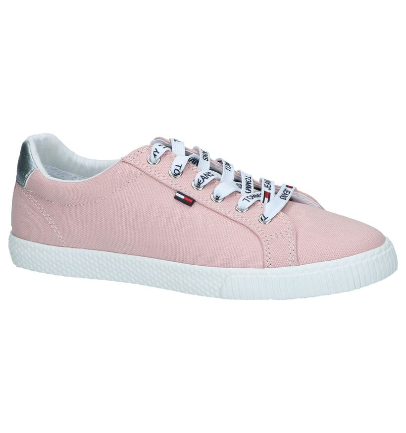 Tommy Hilfiger Jeans Witte Sneakers in stof (285278)