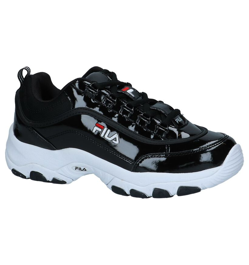 Fila Strada Zwarte Lage Sneakers in stof (240837)