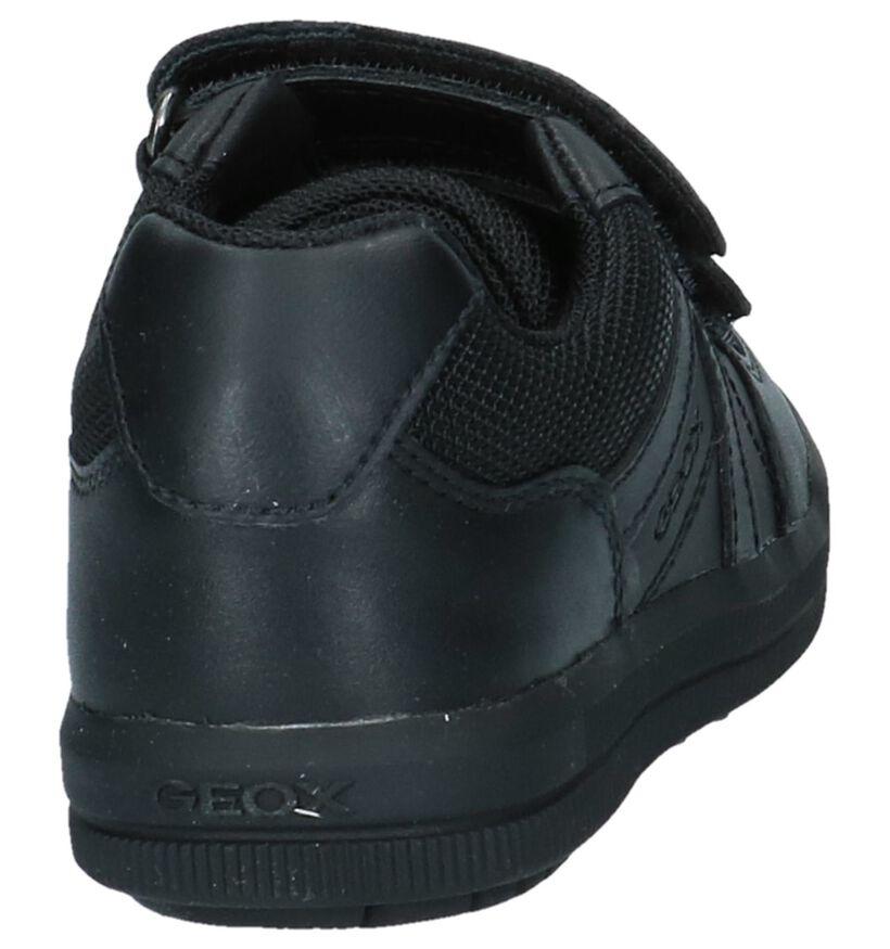 Zwarte Geox Klittenbandschoenen in kunstleer (223187)