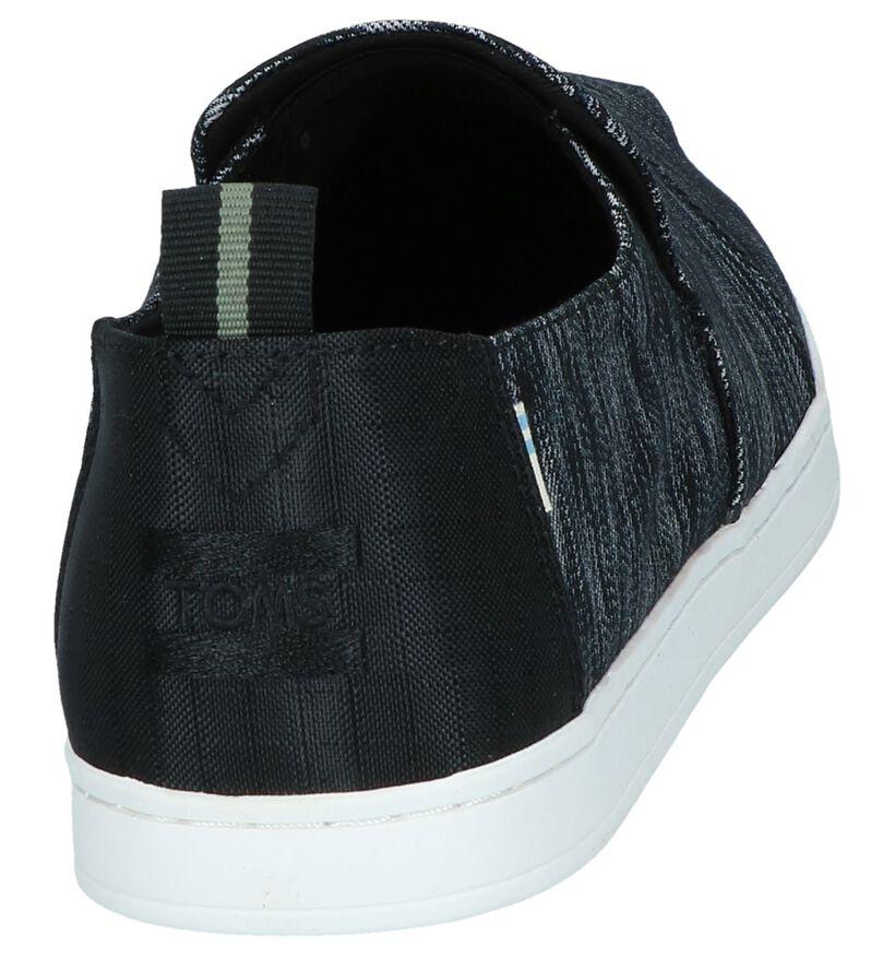 Zwarte Espadrilles Toms in stof (242108)