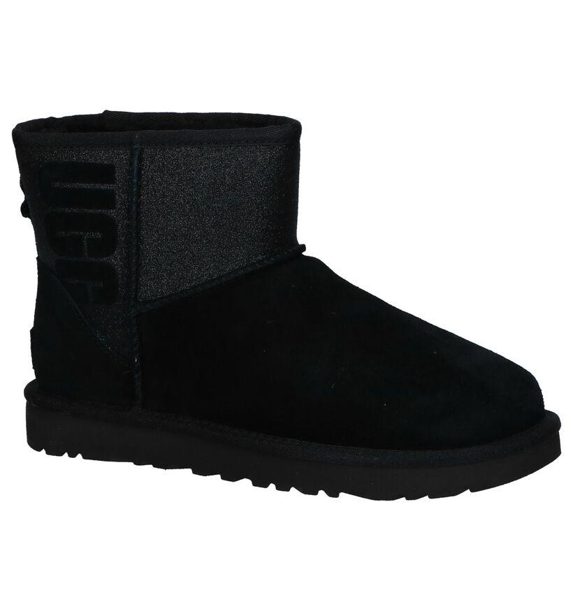 Zwarte Boots UGG Classic Mini in daim (223597)