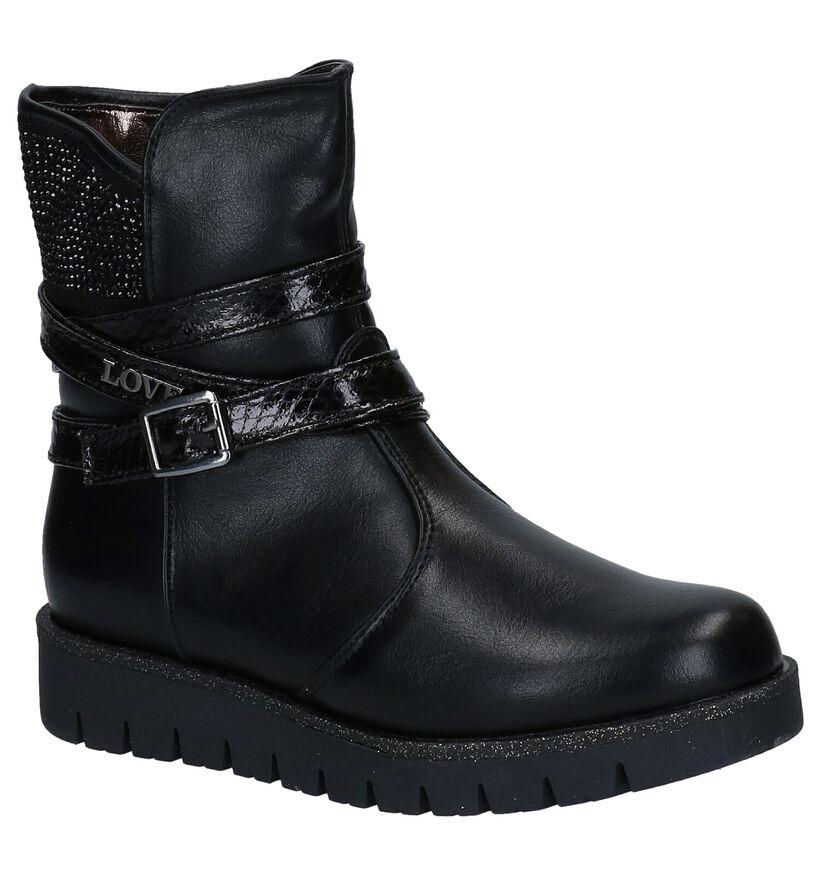 Asso Zwarte Laarzen in kunstleer (282887)
