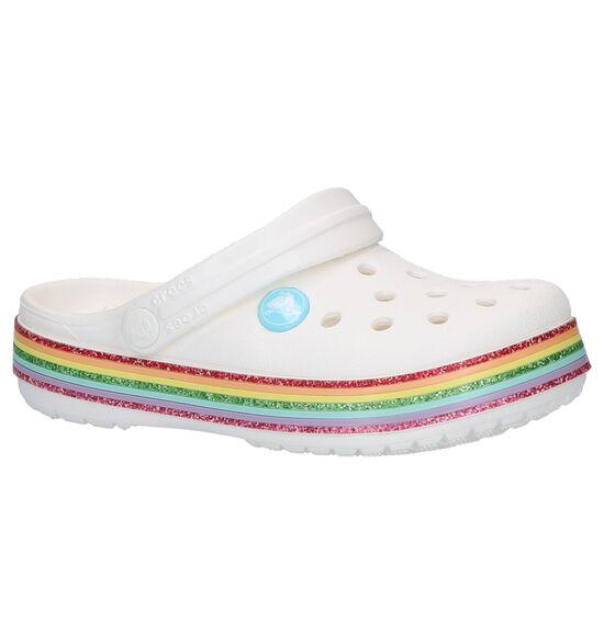 Crocs Crocband Rainbow Witte Slippers