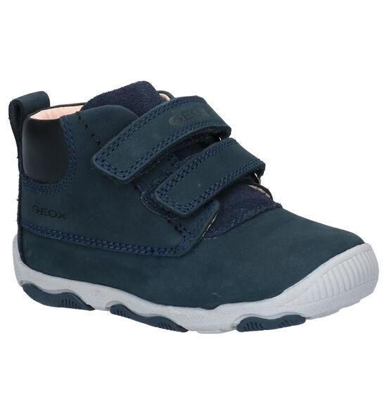 Geox Balu Blauwe Klittenbandschoenen