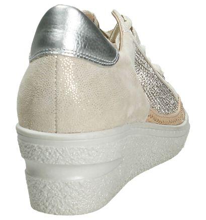 Softwaves Gouden Lage Sneakers met Sleehak in nubuck (194396)