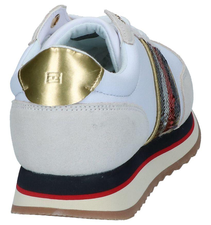 Witte/Ecru Sneakers Tommy Hilfiger in daim (237250)