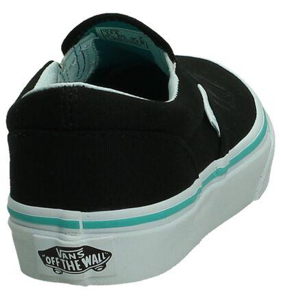 Vans Classic Slip-On Zwarte Sneakers, Zwart, pdp