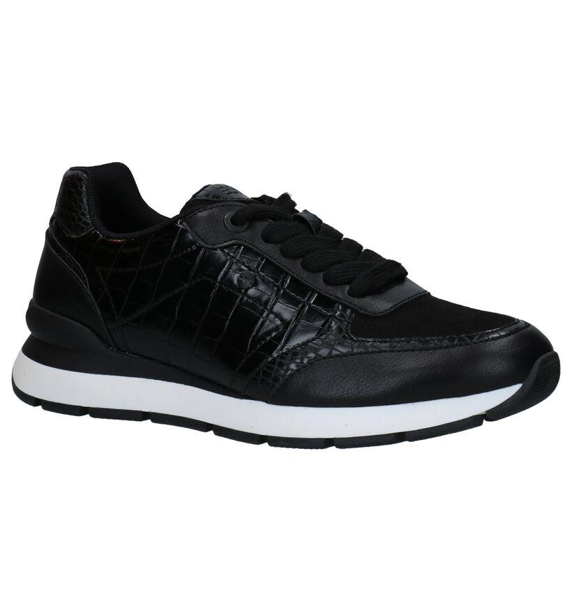 Esprit Zwarte Sneakers in kunstleer (279620)
