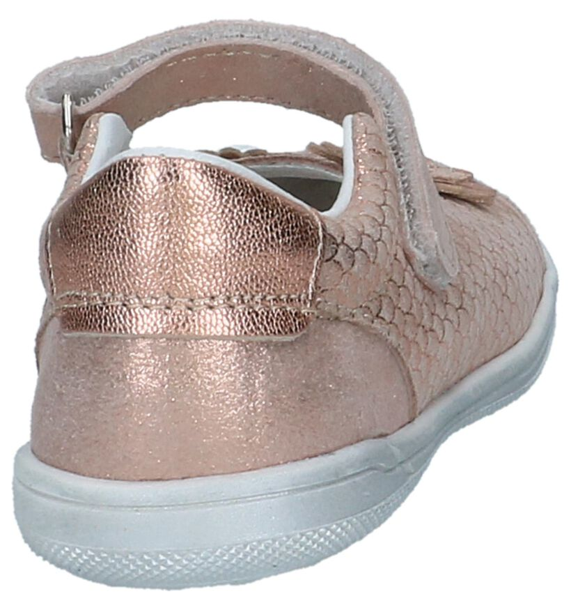 Rose Golden Ballerina's Bopy satato in leer (242843)