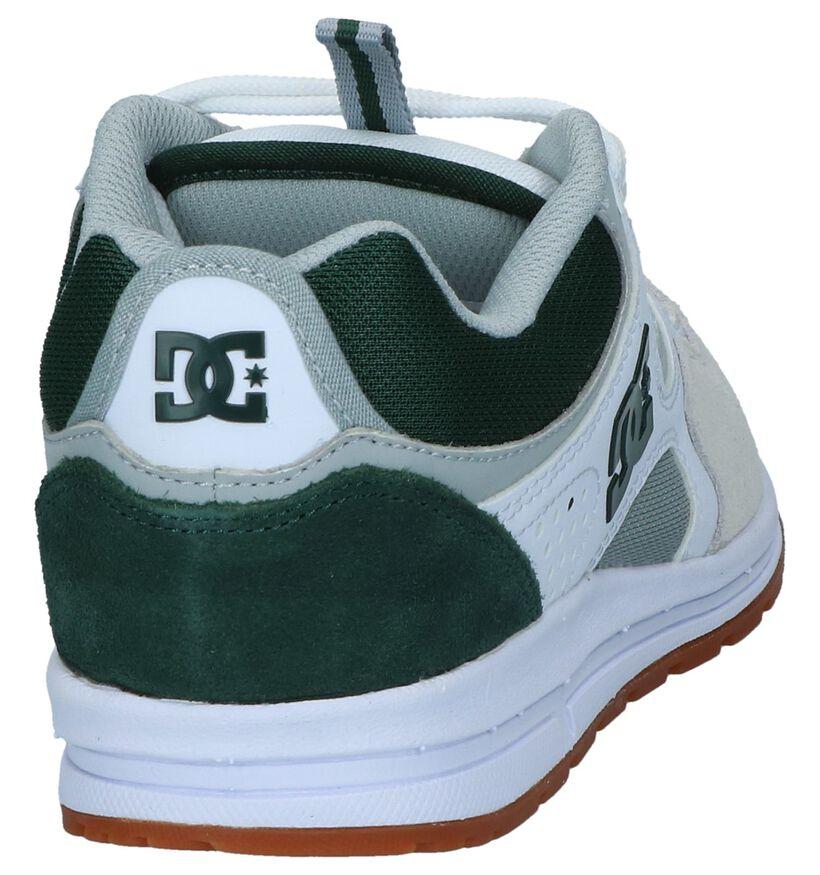 DC Shoes Kalis Lite Witte Nineties Sneakers in daim (235120)