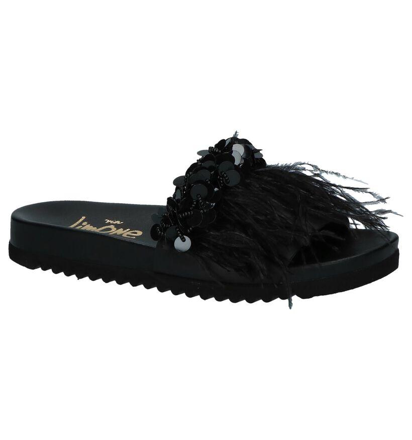 Zwarte Elegante Slippers Via Limone by Torfs in leer (218796)