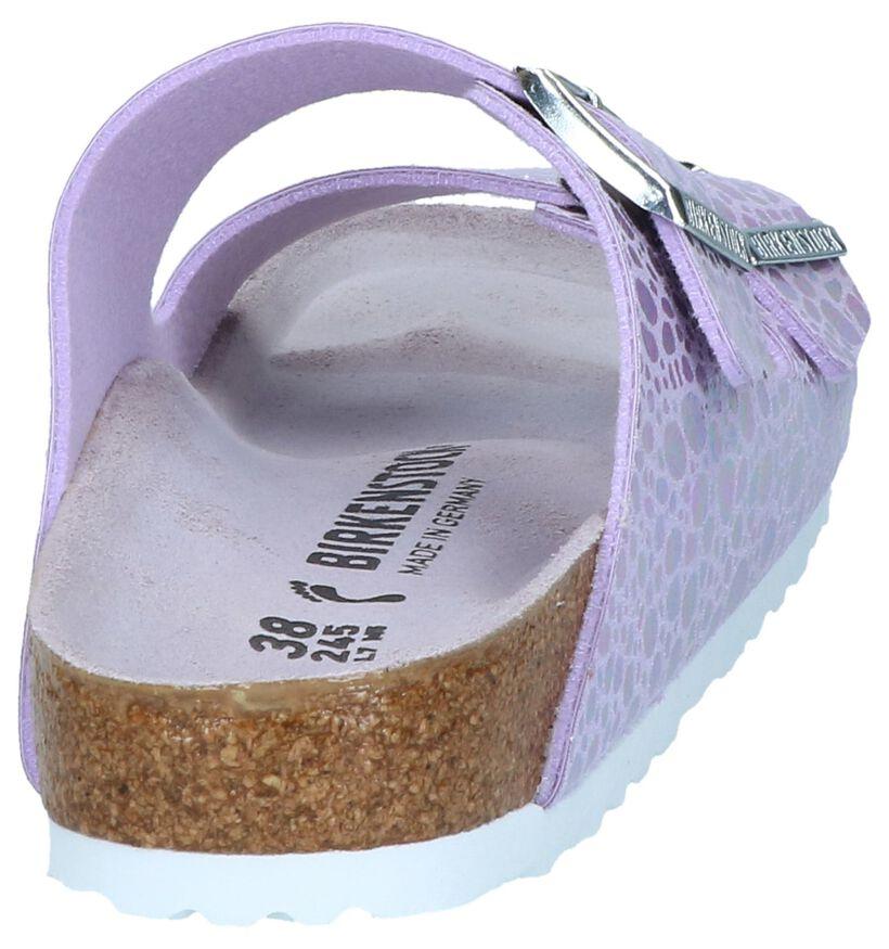 Birkenstock Arizona Zwarte Slippers in kunstleer (255841)