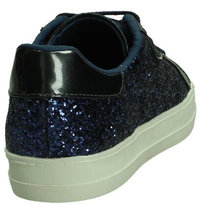 Blauwe Sneaker met Glitter Tamaris in imitatieleer (192472)