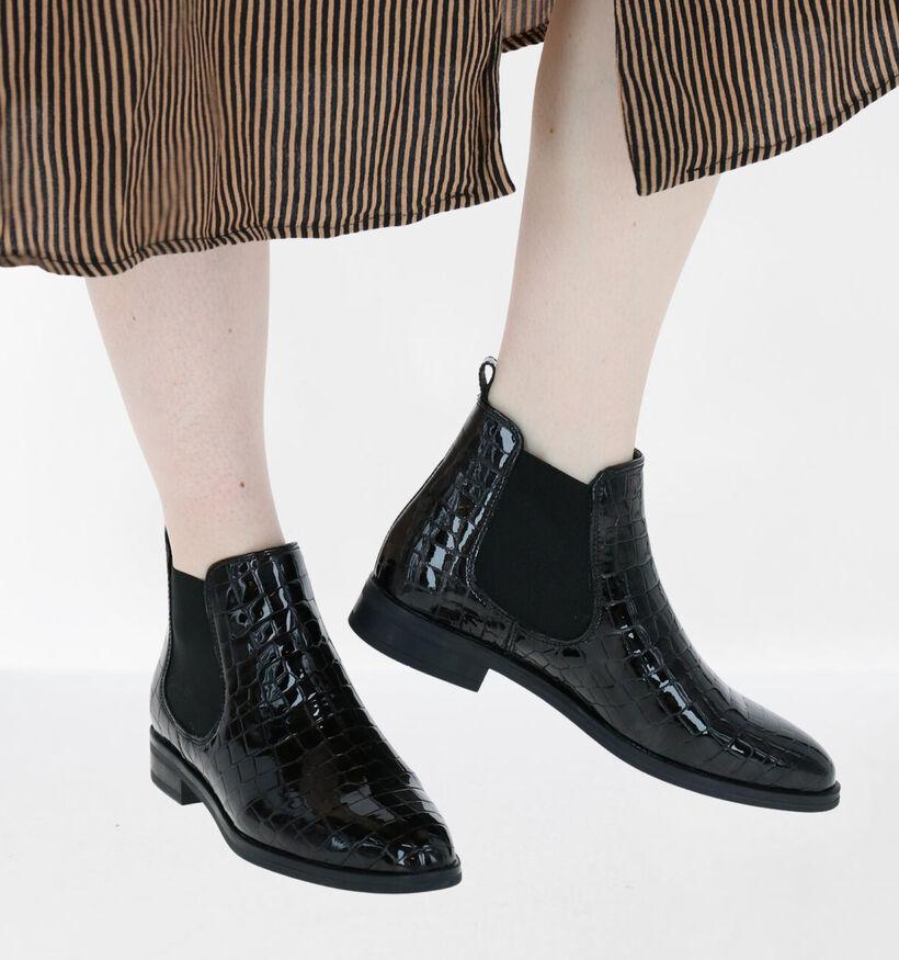 Hampton Bays Zwarte Chelsea Boots in lakleer (277835)