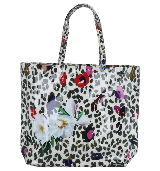 Ted Baker Polycon Wit/Zwarte Shopper Tas