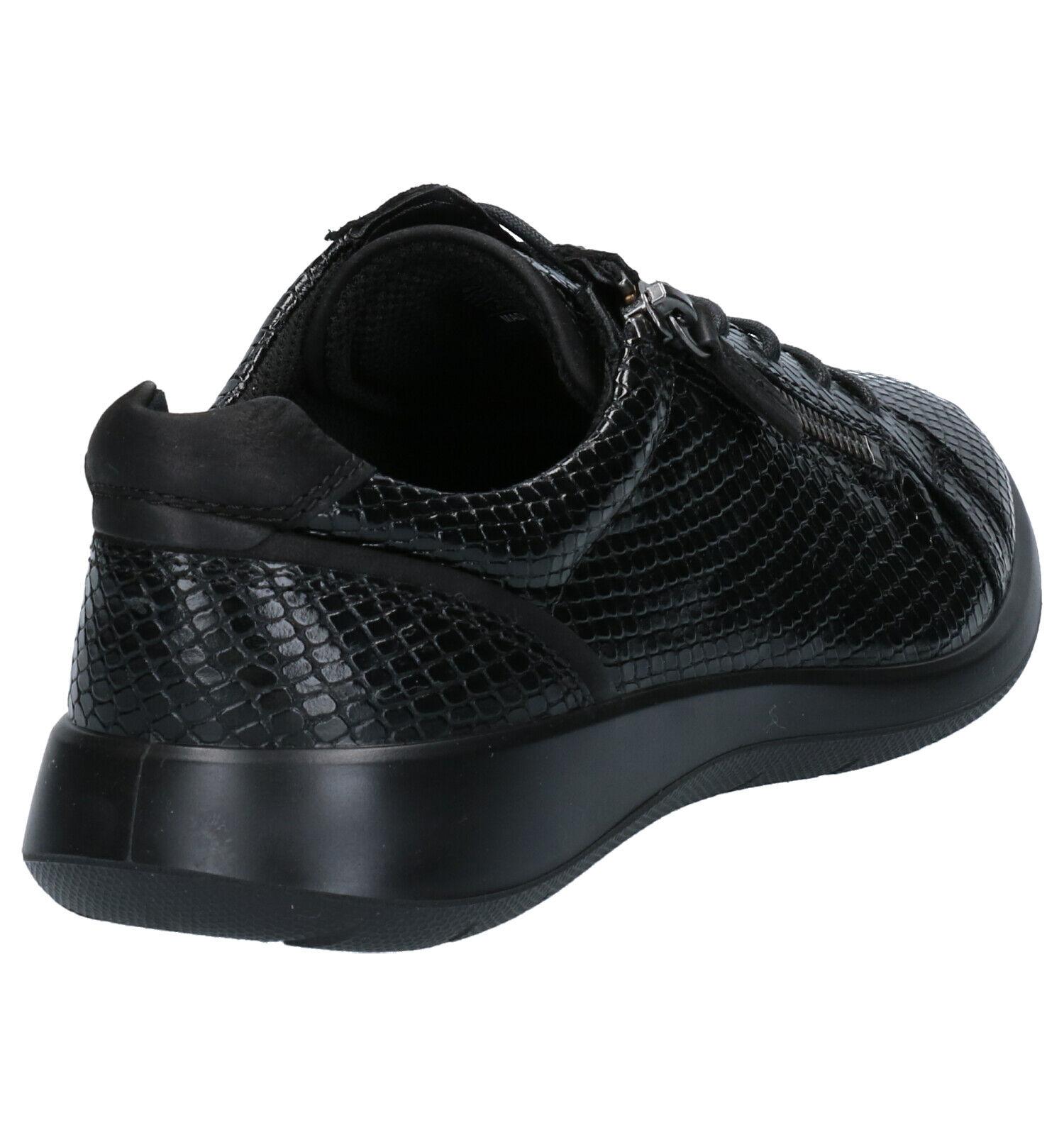 ECCO Soft 5 Zwarte Veterschoenen