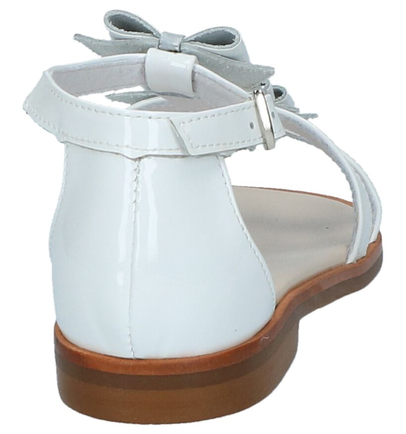 Witte Geklede Sandalen Beberlis in lakleer (216010)