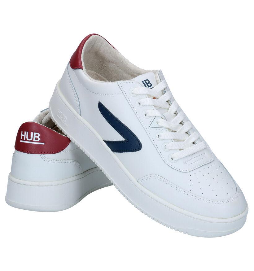 Hub Baseline Witte Sneakers in leer (279401)
