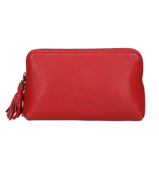 Euro-Leather Rood Make-up Tasje