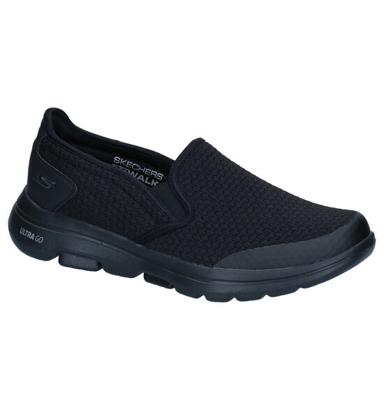 Skechers Go Walk Zwarte Slip-on Sneakers