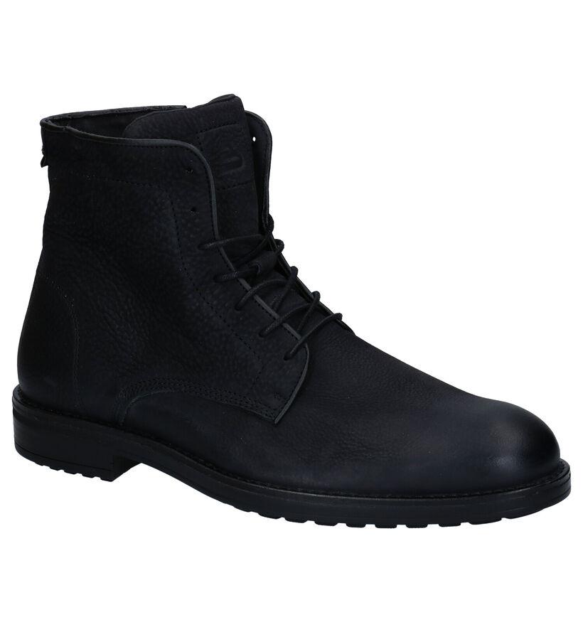 Bullboxer Zwarte Hoge Schoenen in nubuck (281790)