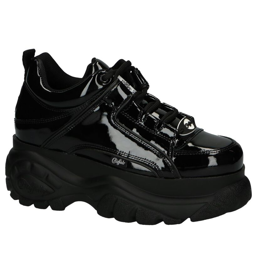 Zwarte Sneakers Buffalo London Classic Kick in lakleer (240564)