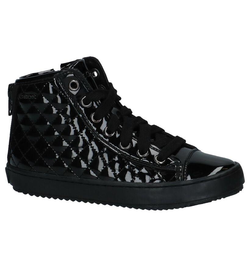 Geox Zwarte Hoge Geklede Sneakers in lakleer (223138)