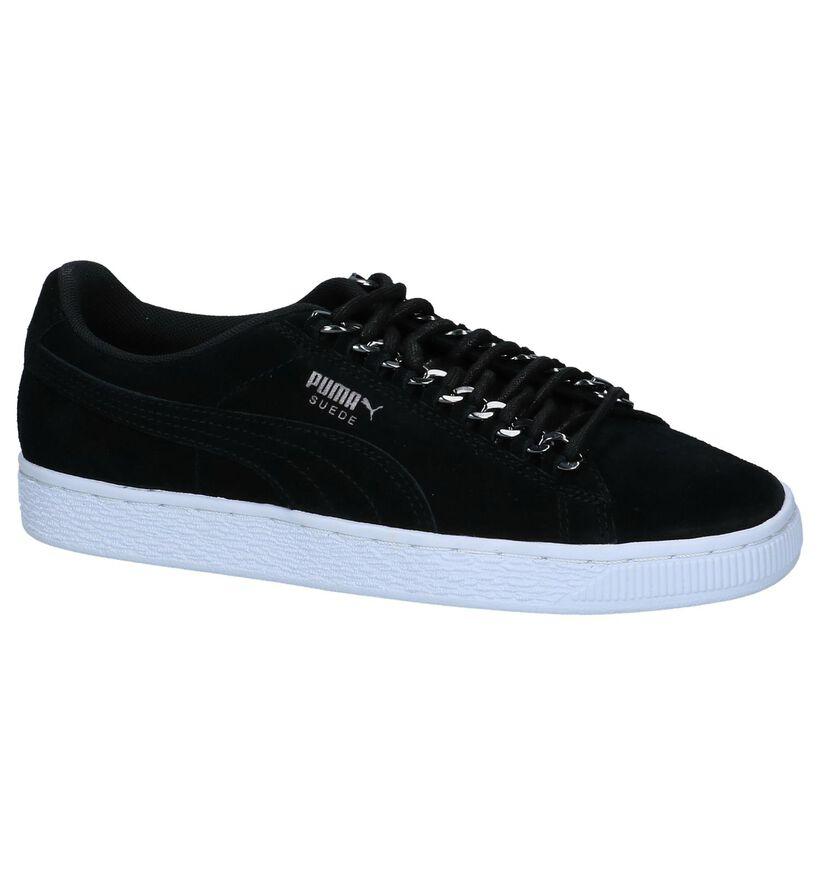 Sneakers Zwart Puma in daim (221659)