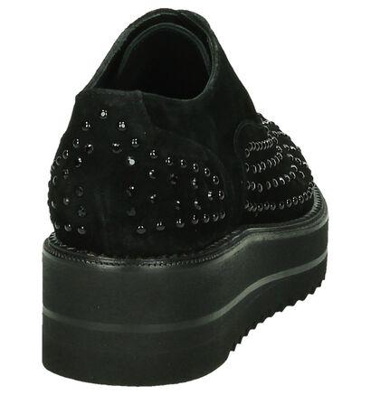 Zinda Zwarte Veterschoenen, Zwart, pdp