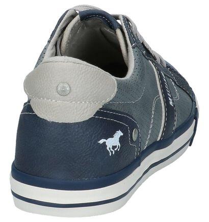 Witte Casual Schoenen met Veters Mustang, Blauw, pdp