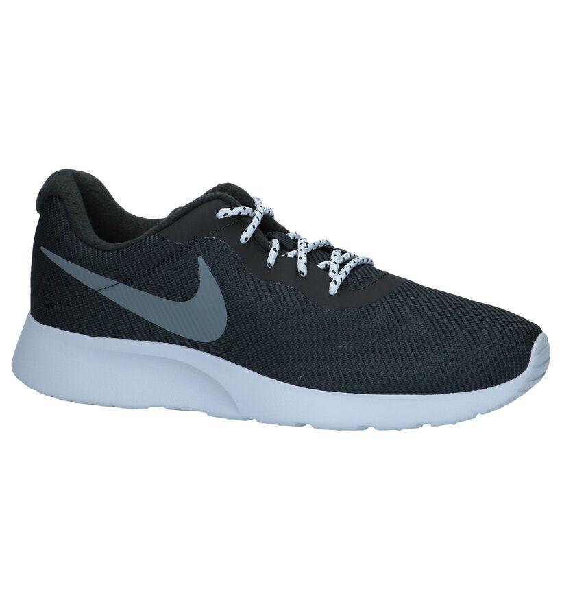 Nike Tanjun Zwarte Sneakers Sportief in stof (234132)