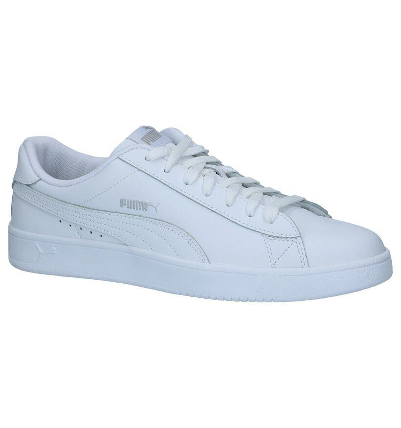 Witte Puma Court Breaker Sneakers in kunstleer (239354)