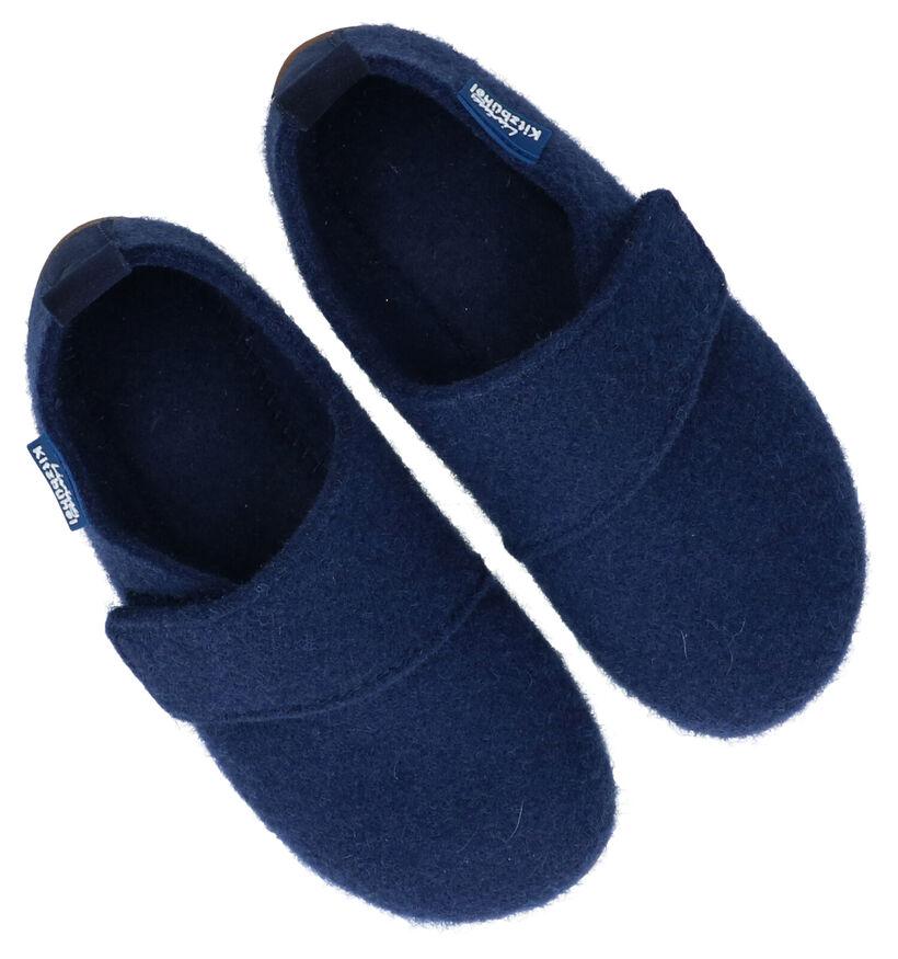 Living Kitzbühel Blauwe Pantoffels in stof (281191)