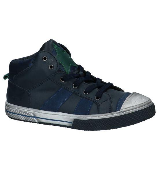 Little David Lucas Donker Blauwe Hoge Sneakers