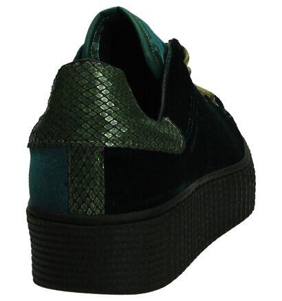 Bordeaux Tango Fluweel Creeper Sneaker, Groen, pdp