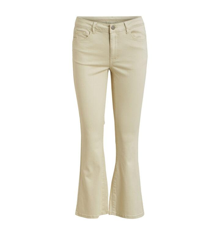 Vila Ecru Cropped Bootcut Jeans
