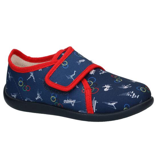 Bellamy Posh Blauwe Pantoffels