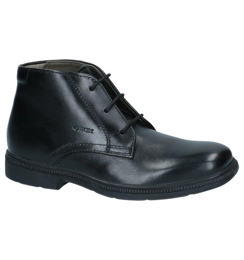 Geklede Zwarte Geox Boots in leer (223186)