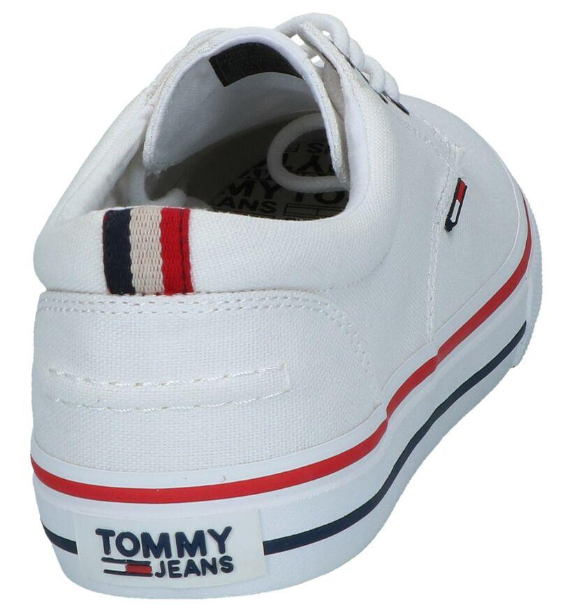 Tommy Hilfiger Tommy Jeans Blauwe Veterschoenen in stof (268622)