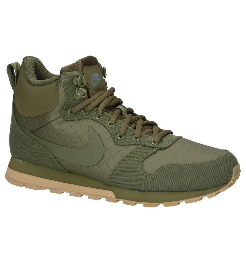 Hoge Sneakers Nike MD Runner 2 Kaki in kunstleer (233435)